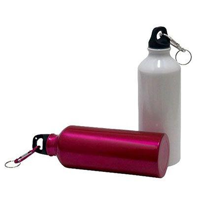JKMN'S Brindes Promocionais - Squeeze de alumínio com mosquetão