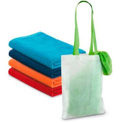 jkmns-brindes-promocionais - Toalha de praia com sacola personalizada