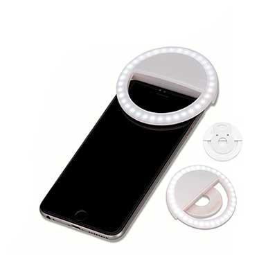 """Anel de Iluminação para celular, utilizado para fotos em formato selfie. """"Ring light"""" plástico no..."""