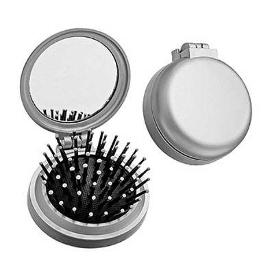Reina Brindes Promocionais - Escova de Cabelo com Espelho.