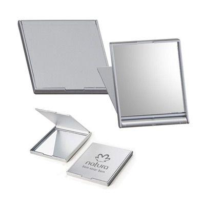 Reina Brindes Promocionais - Espelho plástico retangular, frente e verso liso