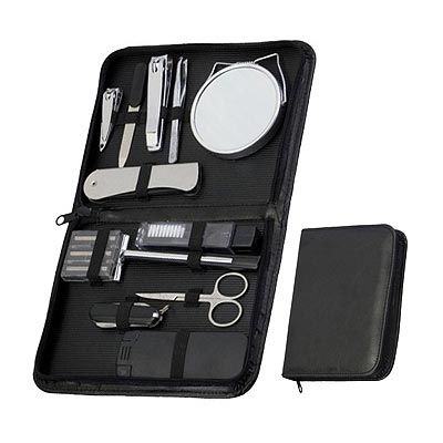 reina-brindes-promocionais - Kit manicure masculino 12 peças