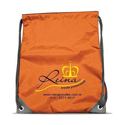 reina-brindes-promocionais - Mochila saco em nylon