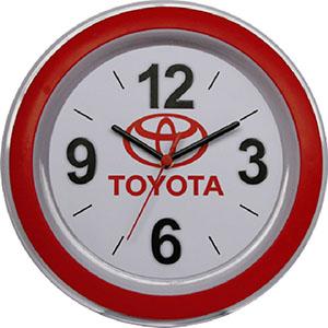 Reina Brindes Promocionais - Relógio de parede redondo com aro decorativo.