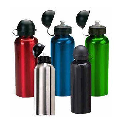 - Squeeze metálico azul com capacidade para 500 ml.  Presenteie seu cliente de maneira sutil e agradável!