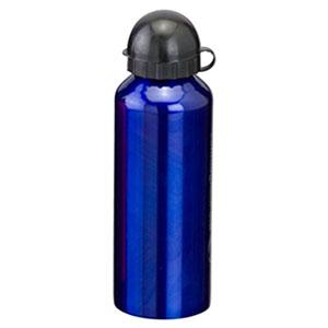 Reina Brindes Promocionais - Squeeze metálico azul com capacidade para 500 ml.