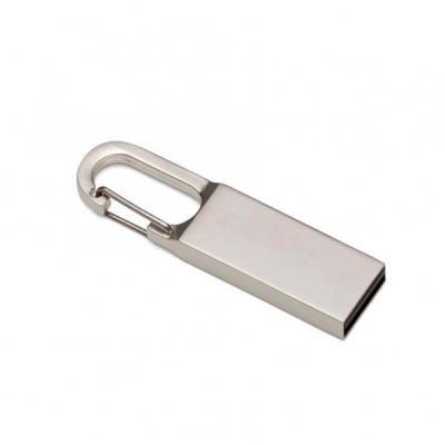 Expresso Brindes - Pen drive com mosquetão. Capacidade de 4GB e 8GB.