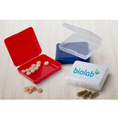Porta comprimidos plástico, material PP. - Expresso Brindes