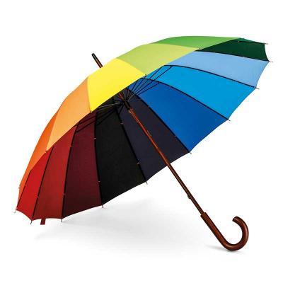 Guarda-chuva Rainbow Nylon 190T Pega em madeira. ø1020 x 875 mm