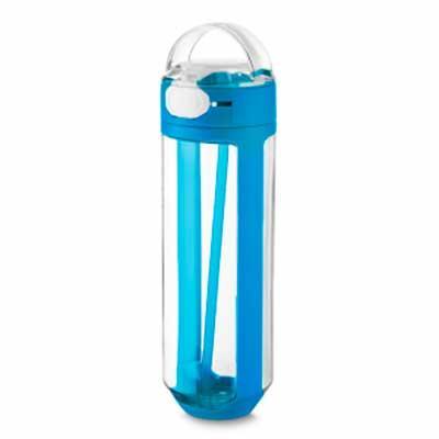 Garrafa plástica 770 ml com trava emborrachado, plástico utilizado: PP (Polipropileno). Dimensão ...