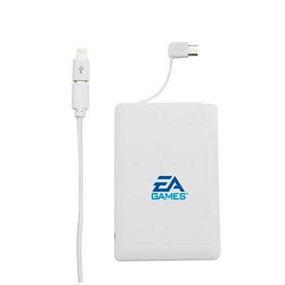 Power bank modelo cartão - Capital Brindes & Cia