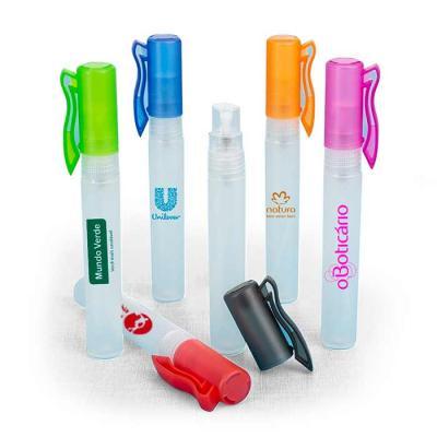 Spray higienizador 10ml plástico formato bastão com acabamento fosco, contém tampa de clipe e tam...
