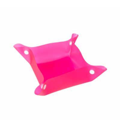 Bebedouro e comedouro para pets. Material plástico, basta juntar os botões das laterais para formar uma espécie de tigela. 19,3 cm x 19,3 cm - Capital Brindes & Cia
