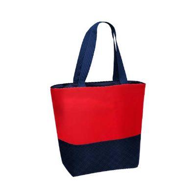ideia-e-costura - Bolsa térmica de nylon bicolor