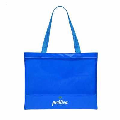 Bolsa de praia de nylon plastificado Medidas: 45cm de largura x 33cm de altura, visor de tela na ...