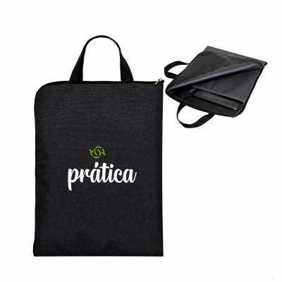 ideia-e-costura - Porta notebook Siena mescla 31 cm de largura x 42cm de altura, com amortecedor de de impactos bolso interno, alça de mão de cadarço de nylon trançado...