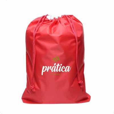 ideia-e-costura - Saco organizador de roupa, saco para roupa de nylon emborrachado, medidas: 35cm de largura x 45cm de altura x 5cm de profundidade, fechamento com cord...