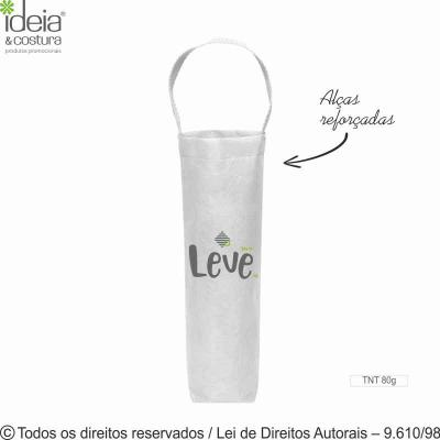 ideia-e-costura - Porta vinho de TNT