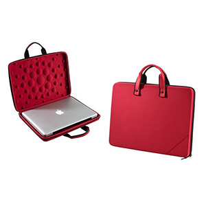 Optitex - Pasta personalizada para notebook 17'' termo moldada em E.V.A revestido com tecido helanca, alça de mão material cadarço ou E.V.A, alça tira colo remo...