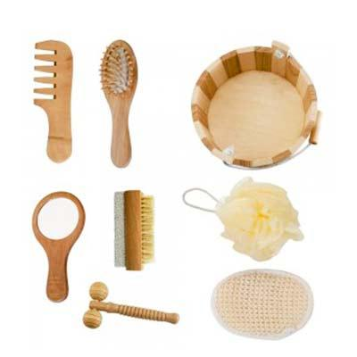p2k-brindes - Kit banho 8 peças ecologico