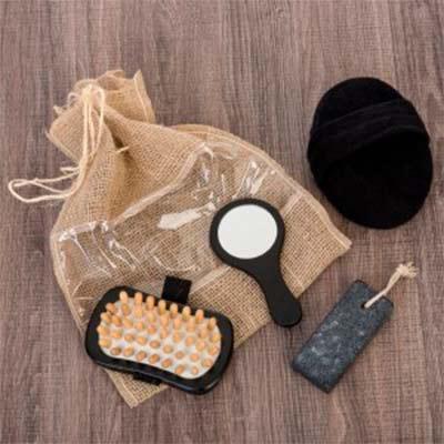 p2k-brindes - kit banho ecologico com 4 peças