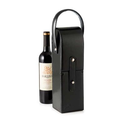 Porta vinho de couro - P2K Brindes