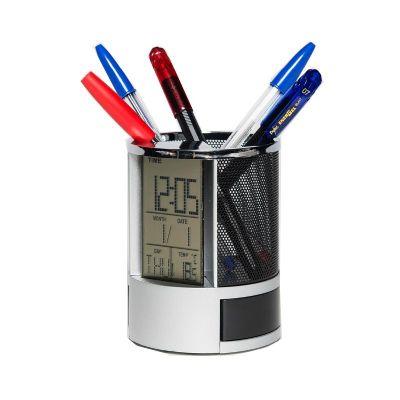 Relógio LCD de mesa.