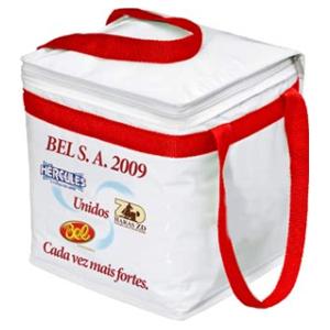 master-bolsas - Bolsa térmica em pvc laminado, com espuma térmica e alça de mão.