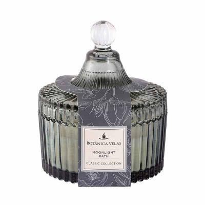 botanica-velas - Linda vela perfumada em bomboniere cinza, medindo 10x12cm Aroma Moonlight Path