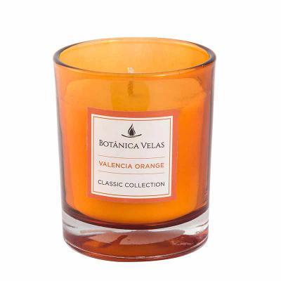 botanica-velas - Linda vela em copo laranja, medindo 7x9cm