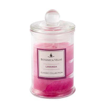 botanica-velas - Linda vela perfume de lavanda com acabamento degradê, em vidro com tampa. Disponível em vários aromas e cores.  Fácil personalização. Medida: 6x10cm