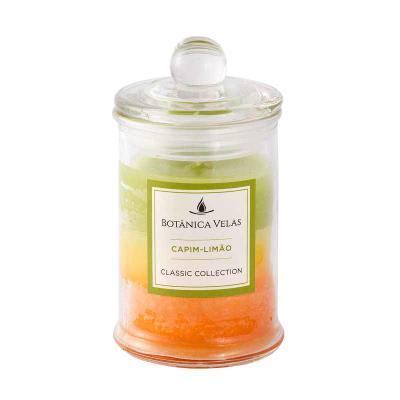 botanica-velas - Linda vela perfume de capim limão com acabamento degradê, em vidro com tampa. Disponível em vários aromas e cores.  Fácil personalização. Medida: 6x10...