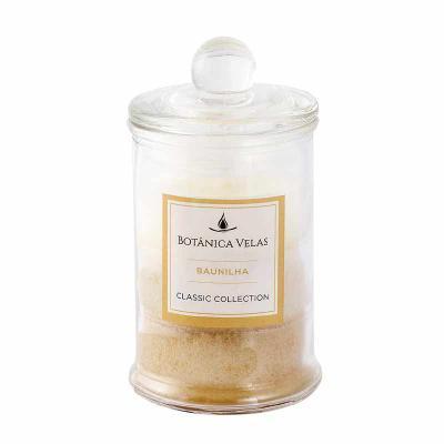 botanica-velas - Linda vela perfume de baunilha com acabamento degradê, em vidro com tampa. Disponível em vários aromas e cores.  Fácil personalização. Medida: 6x10cm