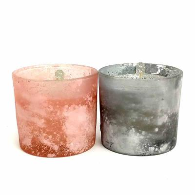 botanica-velas - Linda vela em copo. Vidro com acabamento fosco.  Aromas: Pink Rose e Blackberry&Jasmin Medida: 8x8cm Fácil personalização