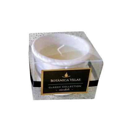 botanica-velas - Linda vela em pote de cerâmica branca.  Ideal para personalização Acompanha embalagem de acetato