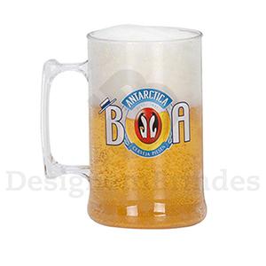 Design em Brindes - Caneca para Chopp Personalizada - 450 ml - Ideal para cerveja, drinques e coquet�is.