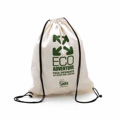 Mochila saco em algodão personalizada - Multipacks Brasil