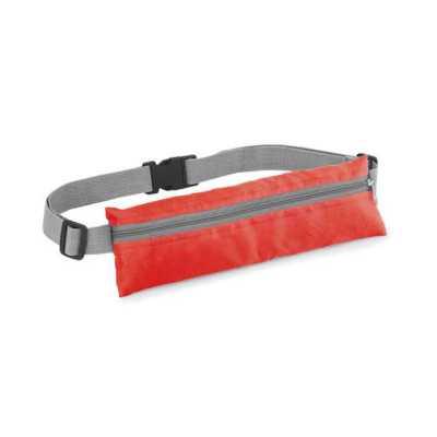 Multipacks Brasil - Bolsa de cintura. 210D ripstop. Com saída para fone de ouvido. 250 x 80 mm