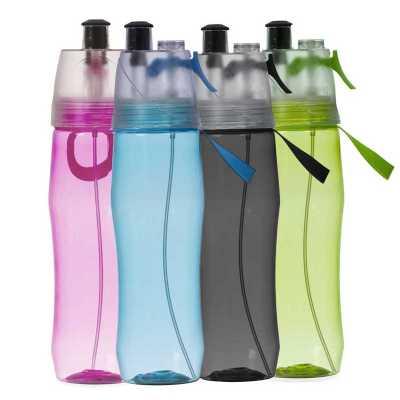 - Squeeze plástico 700ml brilhante com borrifador. Possui tampa plástica resistente(transparente), para uso basta levantar o bico e utilização do borrif...