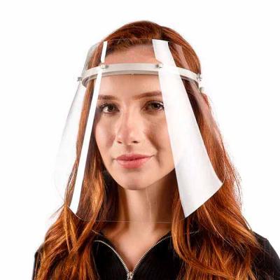 Máscara Protetora Face Shield PTG - alta transparência com tiara viseira, Leve e confortável.
