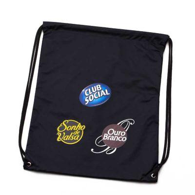 Multipacks Brasil - Saco mochila em nylon, 2 ilhós e cordão