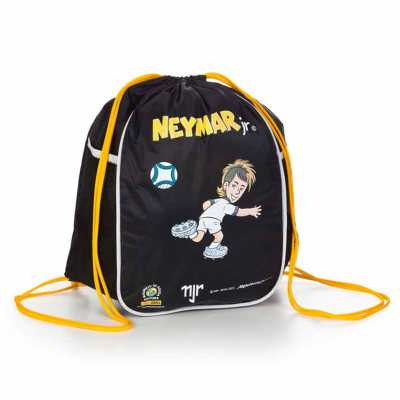 Saco mochila em nylon emborrachado, com 2 bolsos laterais em tela