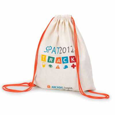 Multipacks Brasil - Saco mochila em algodão crú com 2 cordões e ilhós