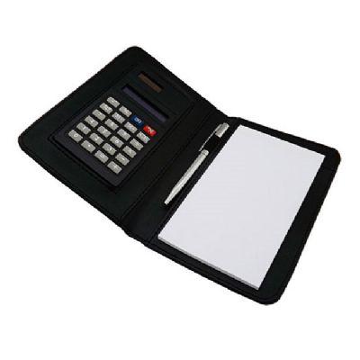 Brindes Oliveira - Bloco de anotação com calculadora e caneta.
