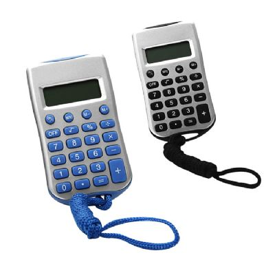 Brindes Oliveira - Calculadora com cordão.