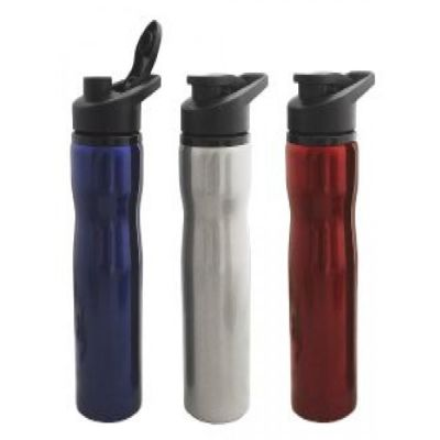 Squeeze de inox com capacidade de 700 ml