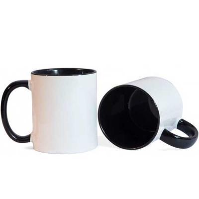 Caneca Porcelana branca, modelo Reta 325 ml. ref. 2050 Impressão sublimada sem limite de cores, A...