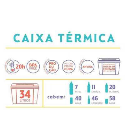 Caixa Térmica 34 litros (58 latinhas)