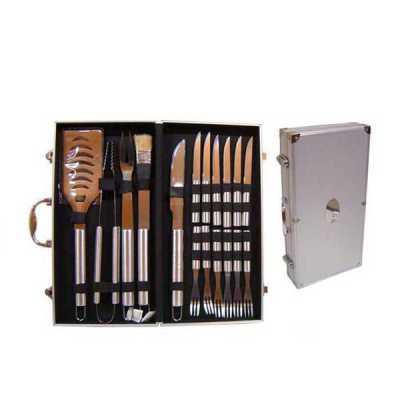 brindes-curitiba - Kit maleta KC 1200, fazemos 01 gravação a laser na etiqueta INOX da tampa da maleta e em 01 faca,  Outras opções:  Ref. 1889.................03 pçs +...