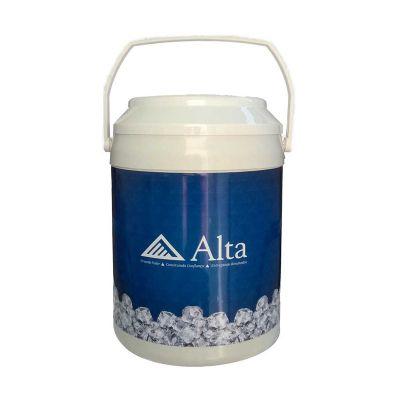 Brindes Curitiba - Cooler com capacidade para 16 latas, opção para tampa e alça branca ou prata. Consulte!